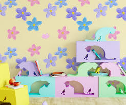 nursery watercolor flowers peel and stick wallpaper