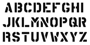 letter stencils to print modern bio resumes