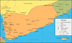 where is yemen on the map yemen map and satellite image