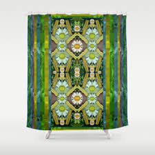 Green And Brown Shower Curtains Green Shower Curtains Society6