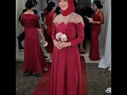 model baju kebaya muslim model kebaya muslim brokat modern 2018