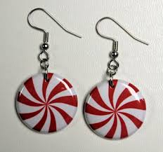button earrings peppermint candy button earrings theangryrobot on artfire