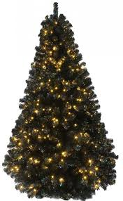 6ft pre lit black iridescence pine tree with warm white lights