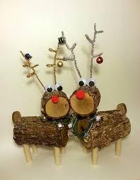 log reindeer log reindeer reindeer deer rustic decor by deerwoodcreekgifts