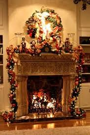 Tall Christmas Mantel Decorations by Tv Above Decorated Fireplace Christmas Fireplace Mantel