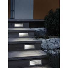 Recessed Wall Lights Outdoor Eglo Eglo 88576 Zimba 1 Light Outdoor Recessed Wall Light Silver