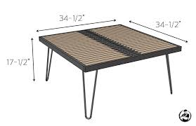 hairpin leg coffee table free diy plans rogue engineer