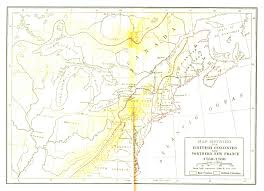 New France Map by Fiske New France And New England Map 1 British Colonies And