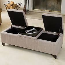 storage ottoman bench fabric modern coffee table foot stool rest