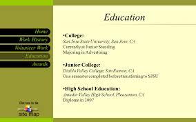 Sjsu Resume Awards Work History Home Site Map Education Volunteer Work Angel G
