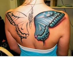 butterfly wings back tattoos fashion s feel tips and care