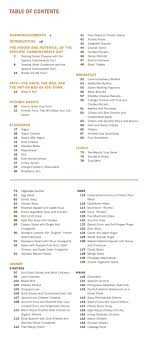 cookbook table of contents cookbook table of contents template