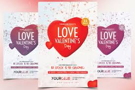 valentines flyer template s day free psd flyer flyer templates creative market
