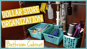 dollar tree organization bathroom cabinet organization youtube