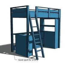 Bunk Bed With Workstation Loft Bed Desk Loft Bed Small Bookcase And Desk Loft Bed With