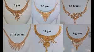 golden fashion necklace images Light weight womens gold necklace designs starting from 4 grams jpg