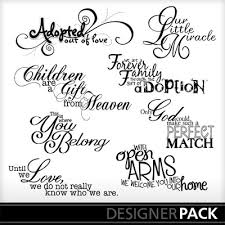 word design clip adopted word pack word design print shop