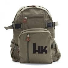 hk heckler and koch army sport heavyweight canvas backpack bag ebay