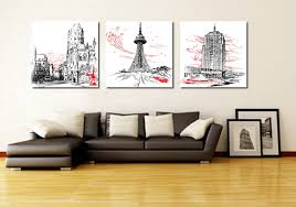 Interior Design Wall Hangings by 3 Piece Wall Art Modern Abstract Geometry 3piece Wall Art 3