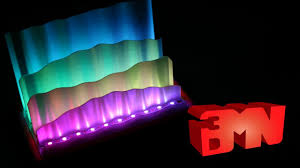 3d printed awesome creation northern lights led l