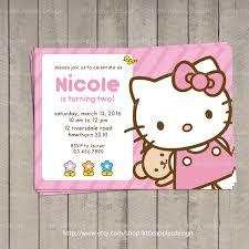 hello kitty invitation hello kitty by littleapplesdesign on etsy