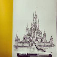 image result for disney castle color pencil drawing draw pinterest