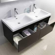 55 Bathroom Vanity Abersoch 55 Inch Wall Mounted Sink Bathroom Vanity Wenge Finish