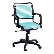 Simple Office Chairs Turquoise Flat Bungee Office Chair With Arms The Container Store