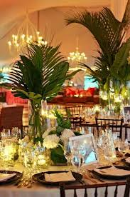 Tropical Theme Wedding - 57 cheerful tropical wedding table settings happywedd com