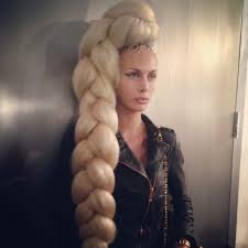 best hair for braid extensions the blonds nyfw show uses huge braids spells name in hair