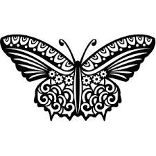 tribal butterfly tribal butterfly silhouette design and silhouettes