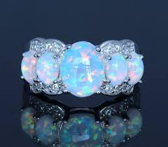 opal rings images Buy white fire opal rings for women from reliable jpg