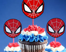 Hero Cupcake Toppers Etsy