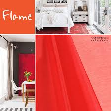 pantone flame color trends red interior design and pantone