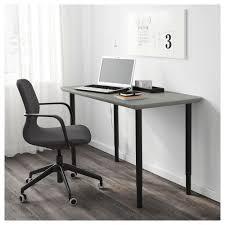 Ikea Office Chair Grey Olov åmliden Table Grey Green Black 120x60 Cm Ikea