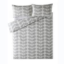 Orla Kiely Multi Stem Duvet Cover Orla Kiely Scribble Stem 100 Cotton Quilt Cover In Light Concrete