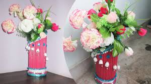 newspaper flower vase making best out of waste with newspaper