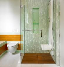 tile shower bench bathroom traditional with baseboards curbless