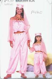 Mother Daughter Costumes Halloween Butterick P420 Genie Mother Daughter Costume Pattern P420