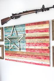 Office Wall Decor Ideas Diy Yardstick American Flag Wall Art Thrifty Under Fifty Bless