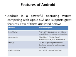 android os using data mobile application development using android ppt