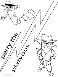 printable perry the platypus coloring pages for kids cool2bkids