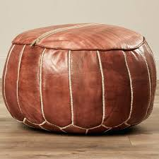 large round leather ottoman tufted large round leather storage ottoman with regard to ideas 6