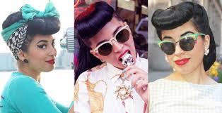 pinup clip in ponytail with bangs vintage hairstyling vintage vandalizm