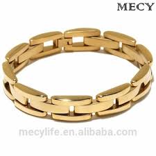 stainless gold bracelet images Mecylife stainless steel jewelry men gold bracelet slave bracelet jpg