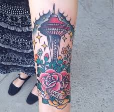 seattle space needle tattoo new tattoo traditional home sweet home