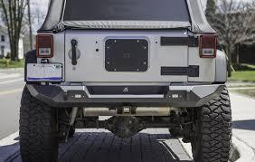 jeep wrangler back jeep wrangler jk pyro fullwidth rear bumper steel crawltek