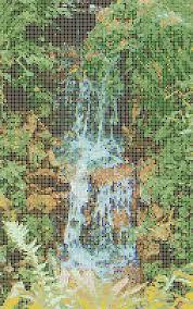 Waterfall Glass Tile Small Waterfall Mosaic Tile Art