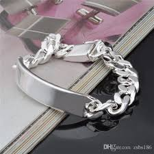silver bracelet hand images 2018 fashion men 39 s jewelry 11mm 925 sterling silver plated figaro jpg