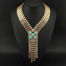 fashion necklace gold images Ancient chunky chain statement necklace gold tone egyptian jpg